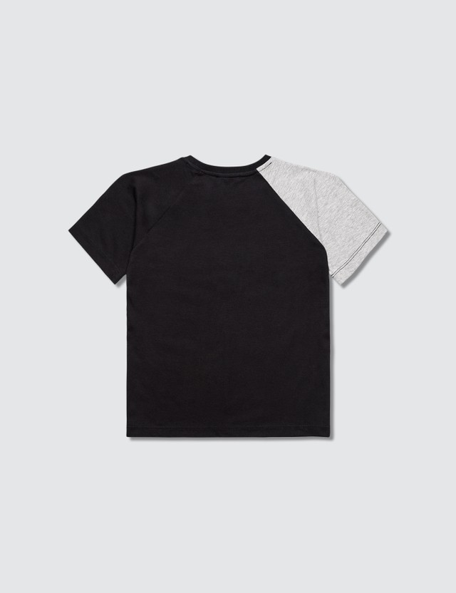 Versace Split Box Logo T-Shirt Nero+grigio Mel Kids