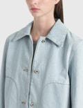 Loewe Button Denim Jacket Light Blue Women