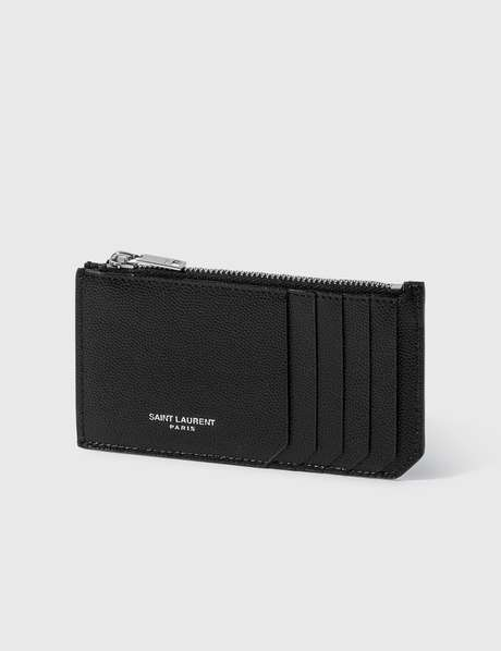 생 로랑 Saint Laurent Fragment Zipped Card Case