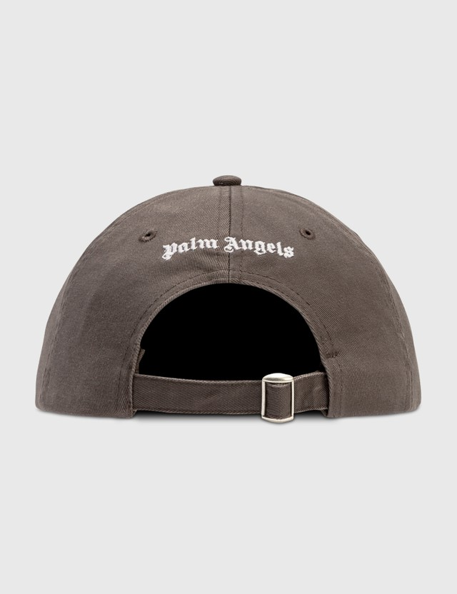Palm Angels Vertical Logo Cap Military White Women