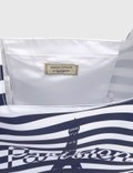 Maison Kitsune Parisien Tower Stripes Nylon Bag Navy Stripe Nas Women