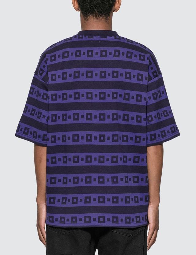 Polar Skate Co. Square Stripe Surf T-Shirt Navy / Purple Men