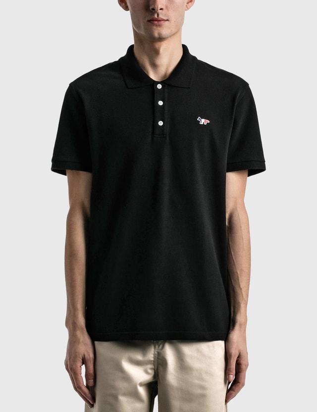 Maison Kitsune Tricolor Fox Patch Classic Polo Shirt Black Men