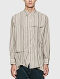 JieDa Hand Stitch Stripe Shirt 사진