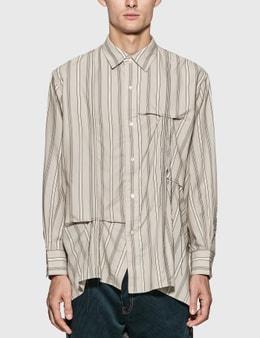 JieDa Hand Stitch Stripe Shirt