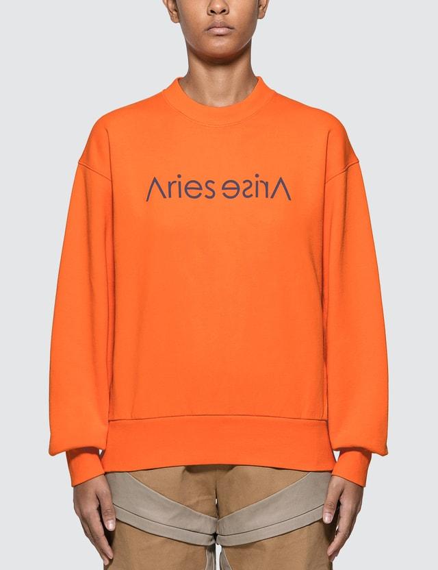 Aries Sans Print Sweatshirt Orange Women