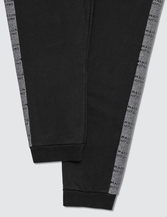 Maison Kitsune Jacquard Rib Jog Pants