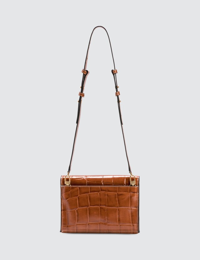 Staud Holly Convertible Croc Emboss Bag