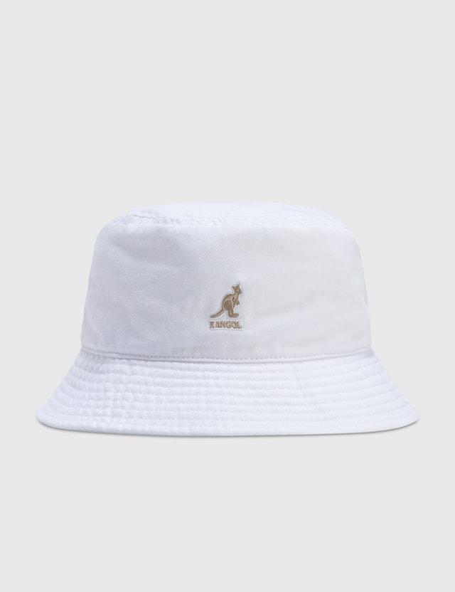 Kangol Washed Bucket White Men