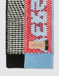 Versace Striped Logo Knitted Scarf