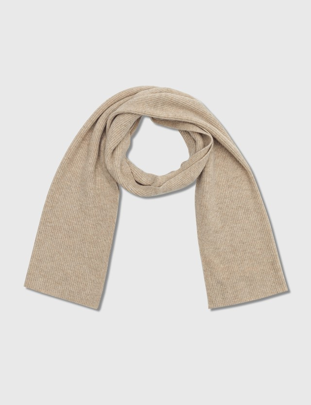 Ganni Recycled Wool Knit Scarf