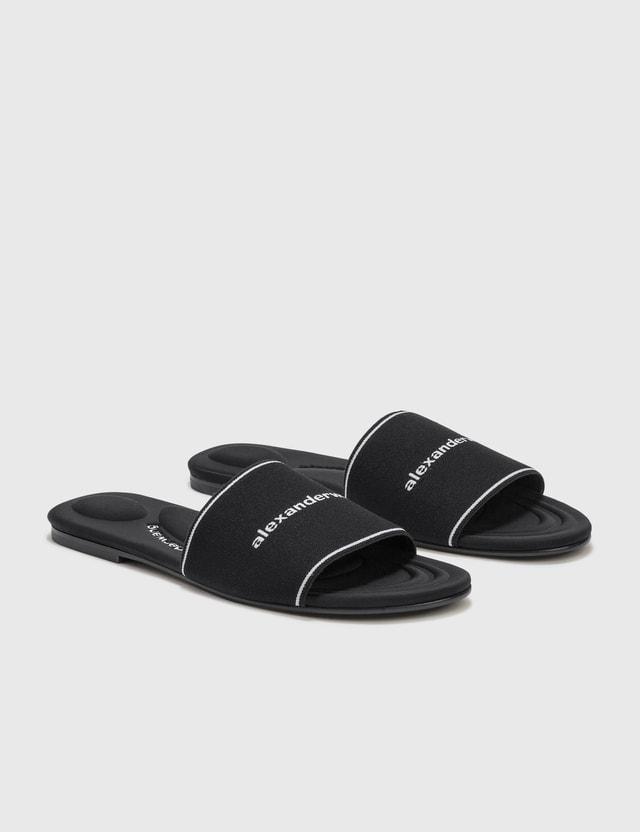 Alexander Wang Kyra Elastic Flat Sandal Black Women