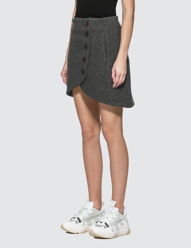 Ganni Heavy Wool Mini Skirt