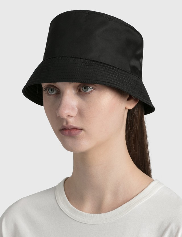 Prada Nylon Bucket Hat Nero Women