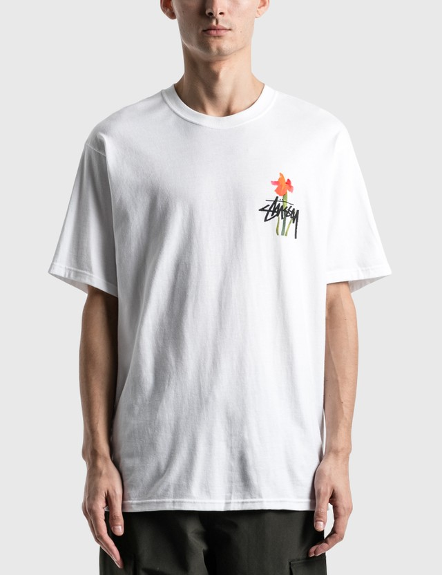Stussy Water Flowers 티셔츠 White Men