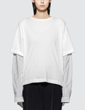 MM6 Maison Margiela Stripe Long Sleeve Shirt with Jersey Patch Picutre