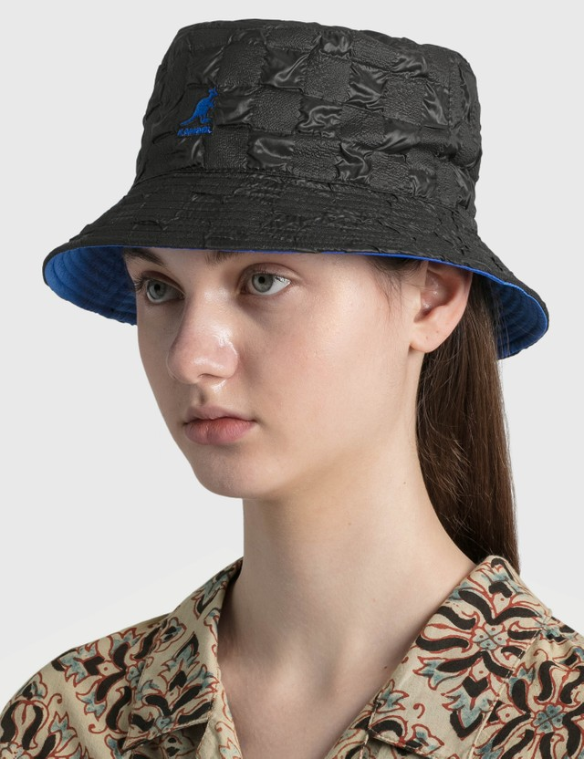 Kangol Pucker Check Bucket Black Women