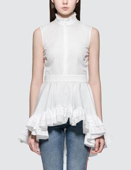 Alexander McQueen Ruff Sleeve Poplin Shirt