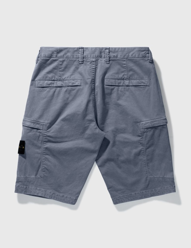 Stone Island Cargo Shorts Mid Blue  Men