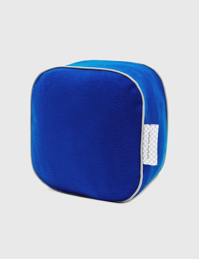Crosby Studios Blue Cubic Pillow