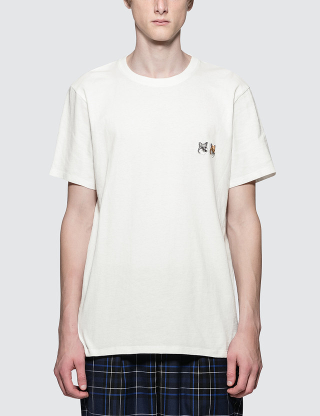 Maison Kitsune Double Fox Head Patch S/S T-Shirt