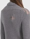 Maison Margiela Roll Neck Knit Dress Grey Women