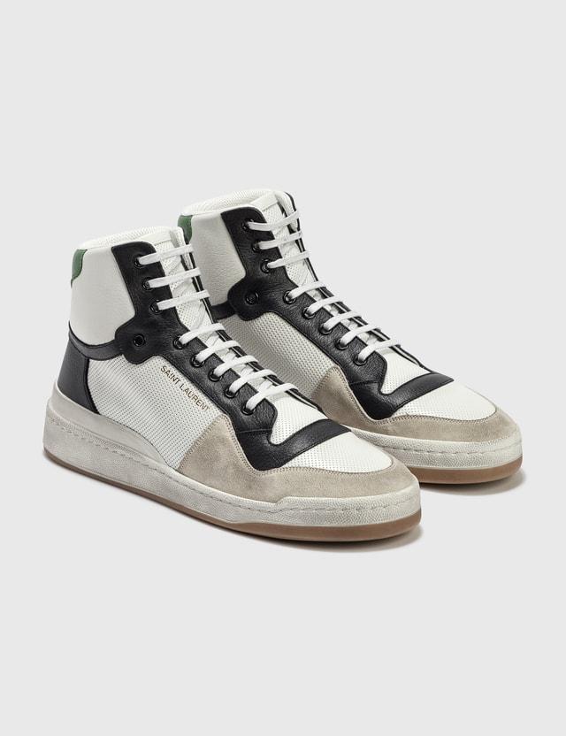 Saint Laurent Sl24 High Top Sneaker Bl Op/ne/an/bl O/d S Men