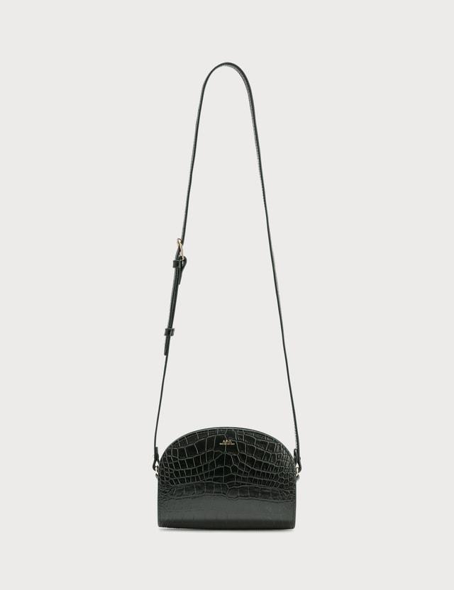 A.P.C. Croco Embossed Mini Half Moon Bag