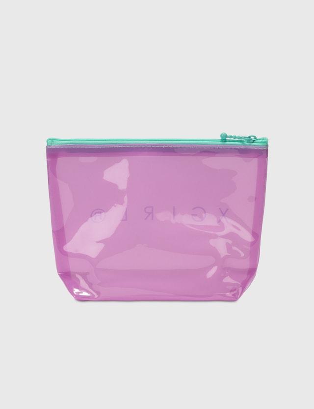 X-Girl Pvc Clear Pouch Purple Women