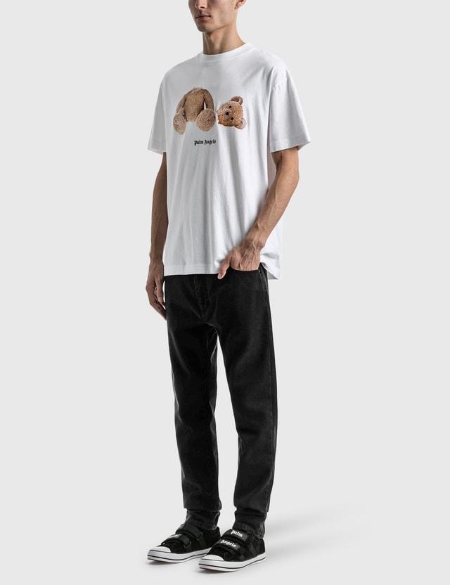 Palm Angels Curved Logo Slim Fit Jeans Black Men