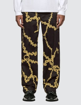 Aries Gold Chain Print Chino Pants