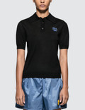 Prada Intarsia Wool Polo Shirt Picture