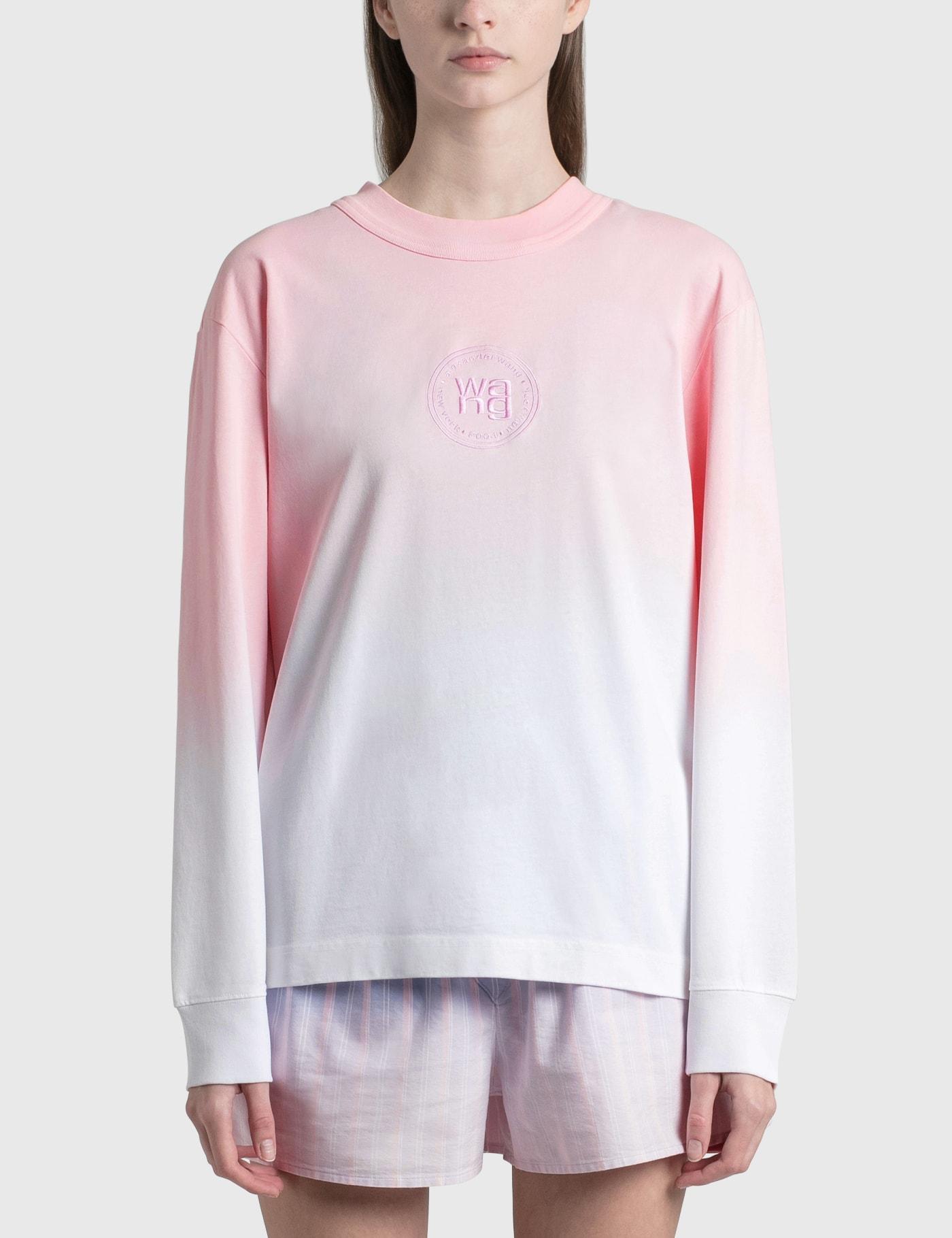 Alexander Wang.t Ombre Long Sleeve T-shirt In Pink