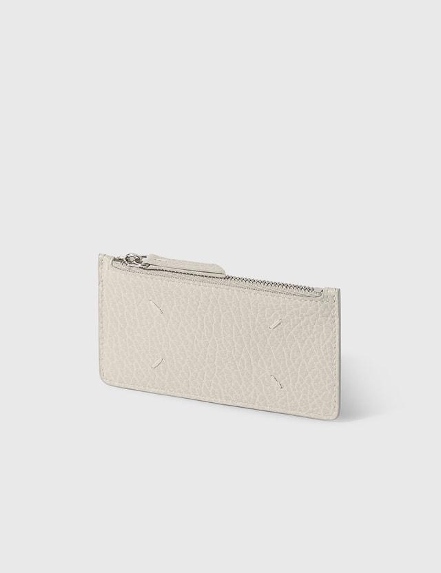 Maison Margiela Zip Card Holder Greige Women