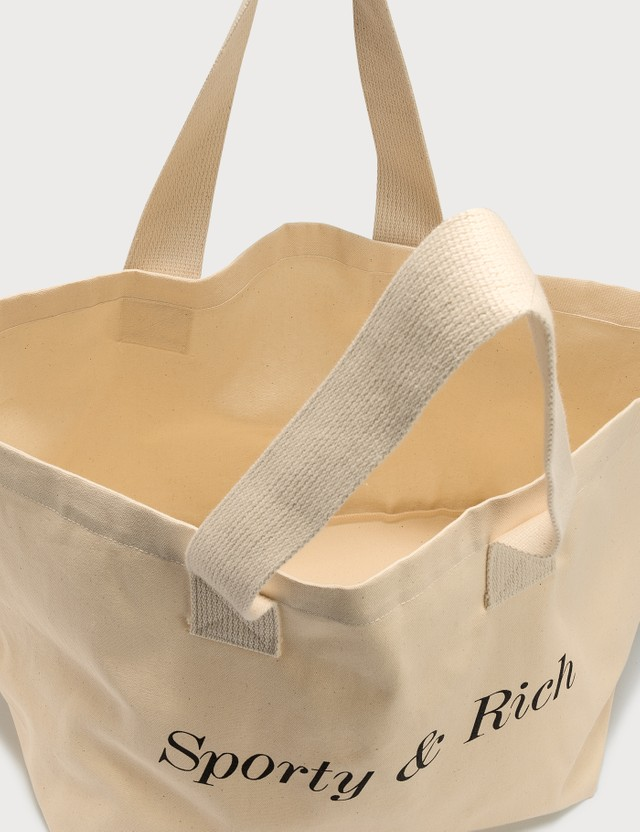 Sporty & Rich Classic Logo Tote Bag