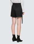 Helmut Lang High Waist Wool Shorts