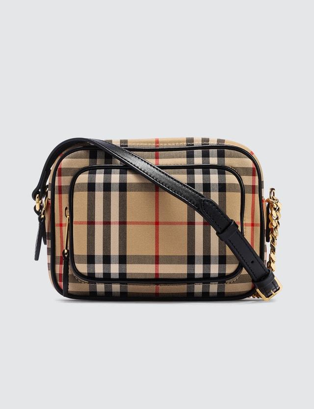 Burberry Vintage check camera bag