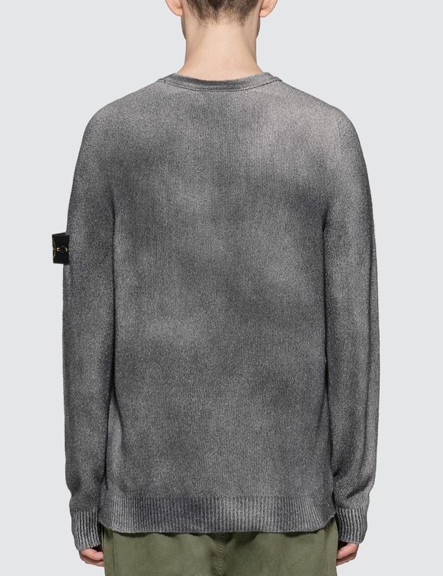 Stone Island Hand Sprayed Treated Rib Knit Sweater