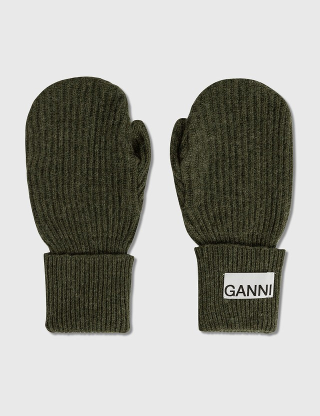 Ganni Recycled Wool Knit Gloves