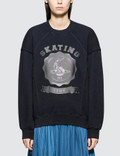 Maison Margiela Open End Fleece Sweater With Reflective Logo Picture