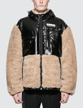 Alexander Wang Shearling Coat with Silicon Patch Picture