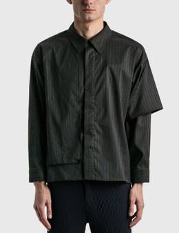 JieDa Silk Stripe Trench Shirt
