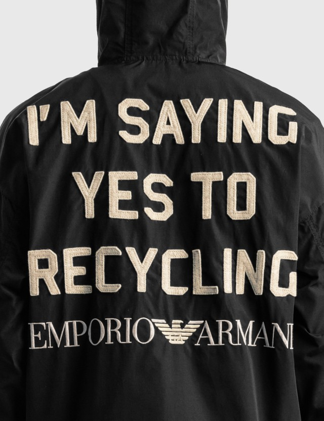 Emporio Armani R-EA Show Nylon Anorak Black Men