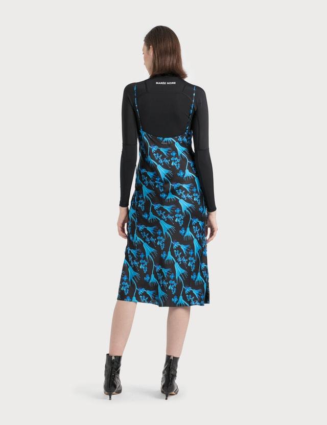 Marine Serre Bias Dress In Radioactive Flower Print 11 Blue Print Women