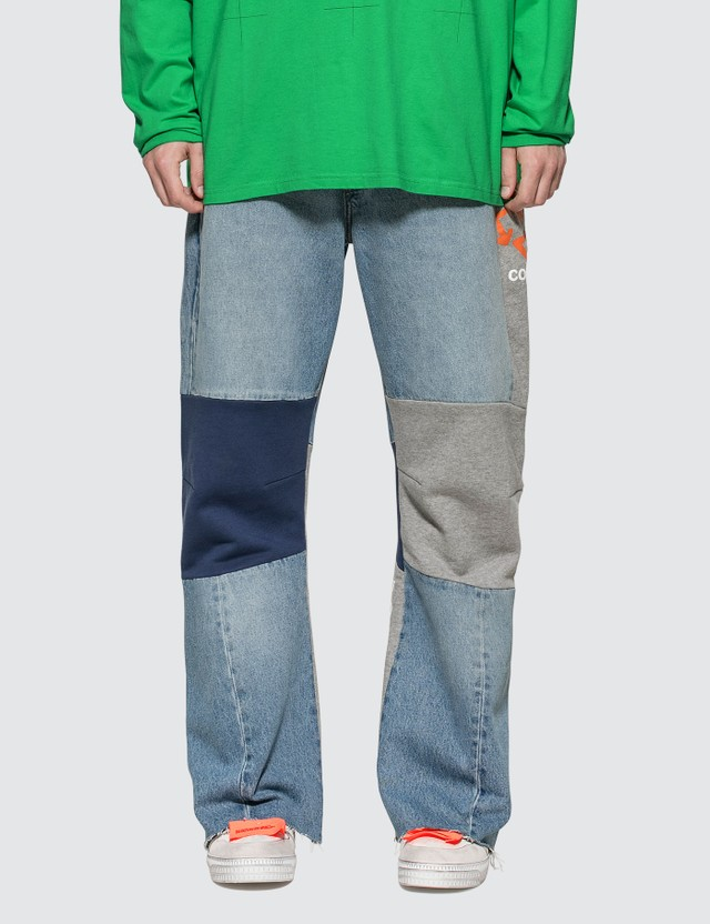 Off-White Reconstructed Panelled Jeans