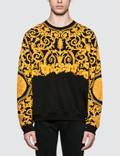 Versace Allover Feather Print Sweatshirt Picture
