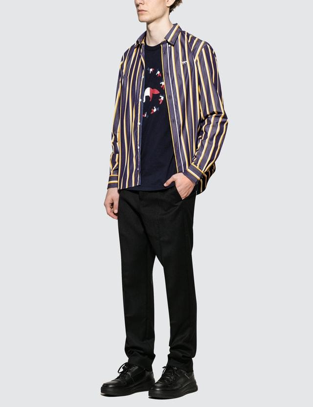 Maison Kitsune Stripes Classic Shirt