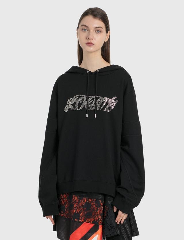 KOCHÉ Crystals Logo Hoodie Black Women