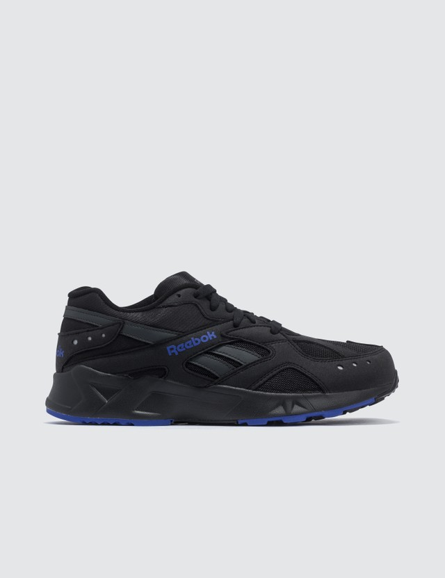 Reebok Aztrek Sneaker 90s-black/white/crushed Cobalt/blue Hills Men