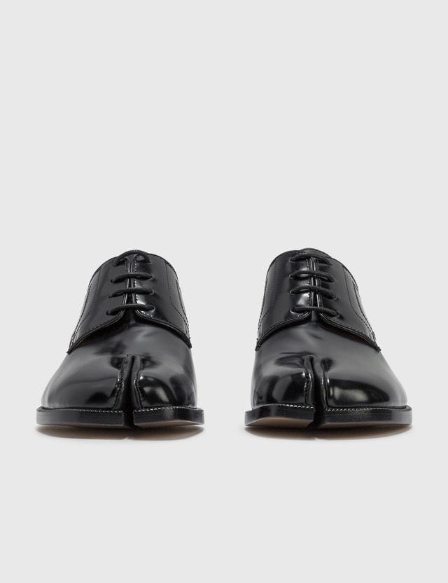 Maison Margiela Tabi Lace Up Shoes Black Women